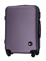 Чемодан Fly 91240 средний 65х42х24 см 60л пластиковый на 4 колесах Серебряно-фиолетовый