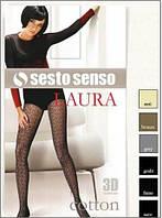 Колготки женские теплые вязаные ажурные Sesto Senso 120 den