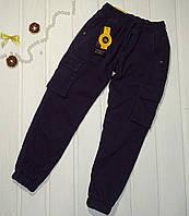 Джинсы утепленные  для мальчика с манжетами графит Размеры 122 128 134 140, фото 1