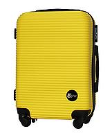 Чемодан Fly 91240 малый 55х38х23 см Ручная кладь на 4 колесах Желтый