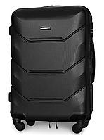 Чемодан Fly 147 средний 67х43х26 см 60 л пластиковый на 4 колесах Черный
