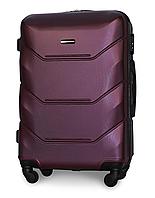 Чемодан Fly 147 средний 67х43х26 см 60л пластиковый на 4 колесах Бордовый