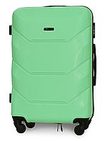 Чемодан Fly 147 средний 67х43х26 см 60л пластиковый на 4 колесах Мятный