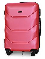 Чемодан Fly 147 средний 67х43х26 см 60л пластиковый на 4 колесах Темно розовый