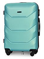 Чемодан Fly 147 средний 67х43х26 см 60л пластиковый на 4 колесах Изумрудный