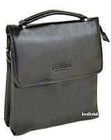 Кожаная мужская сумка с ручкой. Кожаный портфель Бонд. Сумка Вond планшетка. Б42, фото 1