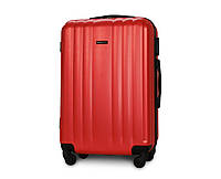 Чемодан средний Fly 614 пластиковый 64х42х25 см 64 л на 4 колесах Красный, фото 1