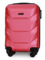 Чемодан Fly 147 мини 53х33х19 см Ручная кладь на 4 колесах Темно-розовый