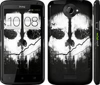 "Чехол на HTC One X Call of Duty череп ""150c-42"""