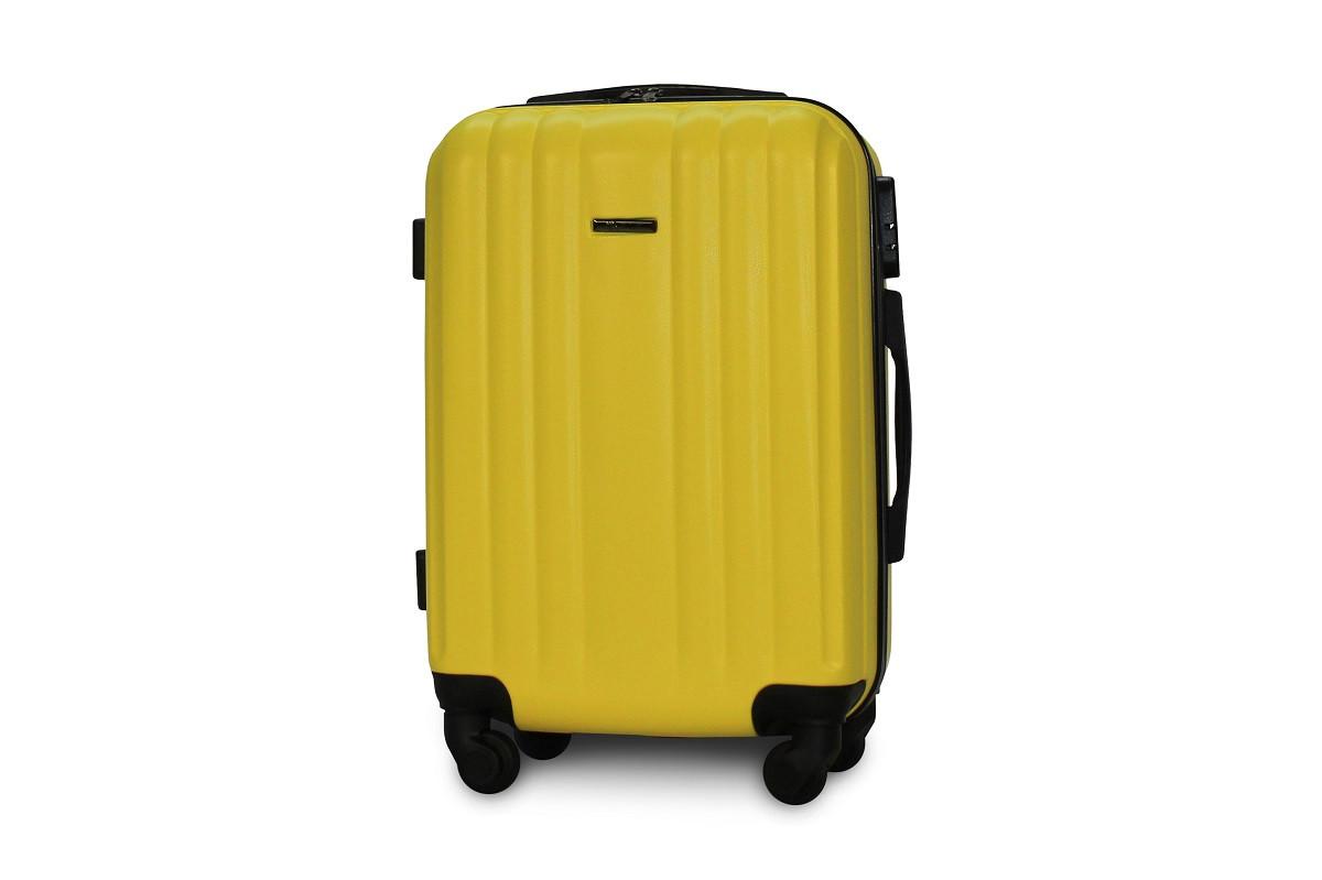 Чемодан под ручная кладь Fly 1096 малый 54х37х22 см 41 л на 4 колесах Желтый