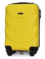 Чемодан Fly 147 мини 53х33х19 см Ручная кладь на 4 колесах Желтый