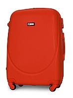 Чемодан Fly К310 средний 65х44х27 см 60л пластиковый на 4 колесах Оранжевый