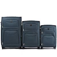 Набор чемоданов 3 штуки в 1 Wings 6802 на 2 колесах Зеленые