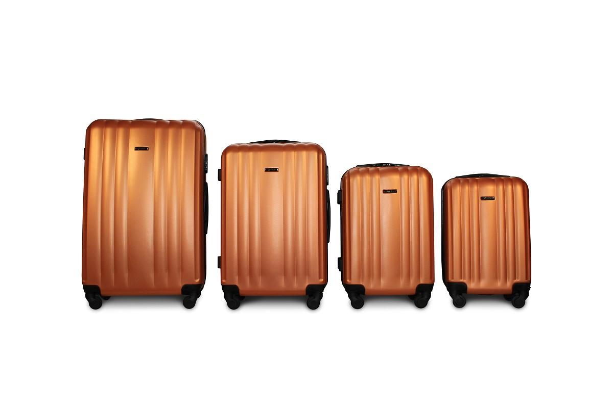 Набор чемоданов 4 штуки в 1 Fly 614 на 4 колесах Оранжевый