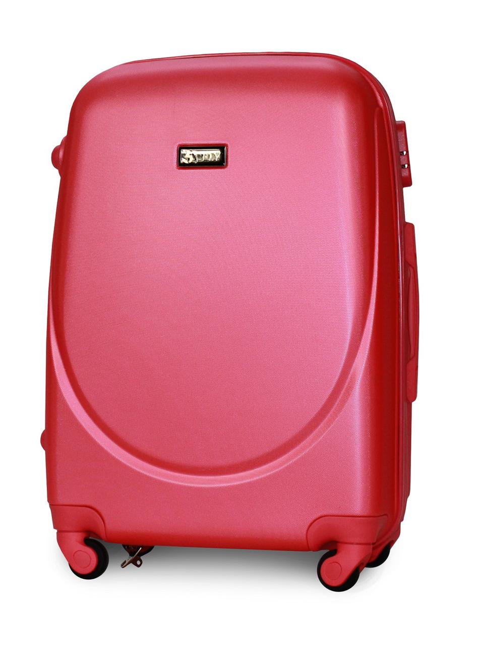 Чемодан Fly К310 средний 65х44х27 см 60л пластиковый на 4 колесах Темно-розовый