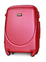 Чемодан Fly К310 средний 65х44х27 см 60л пластиковый на 4 колесах Темно-розовый, фото 1