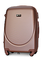 Чемодан Fly К310 средний 65х44х27 см 60л пластиковый на 4 колесах Розово-золотой