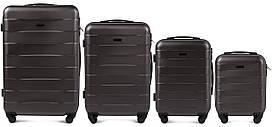 Комплект чемоданов 4 штуки в 1 Wings 401 на 4 колесах Темно-серый