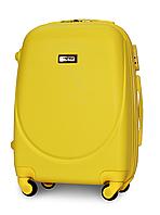 Чемодан Fly К310 малый 55х37х23 см Ручная кладь на 4 колесах Желтый, фото 1