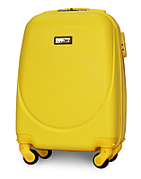 Чемодан Fly К310 мини 51х35х20 см Ручная кладь на 4 колесах Желтый
