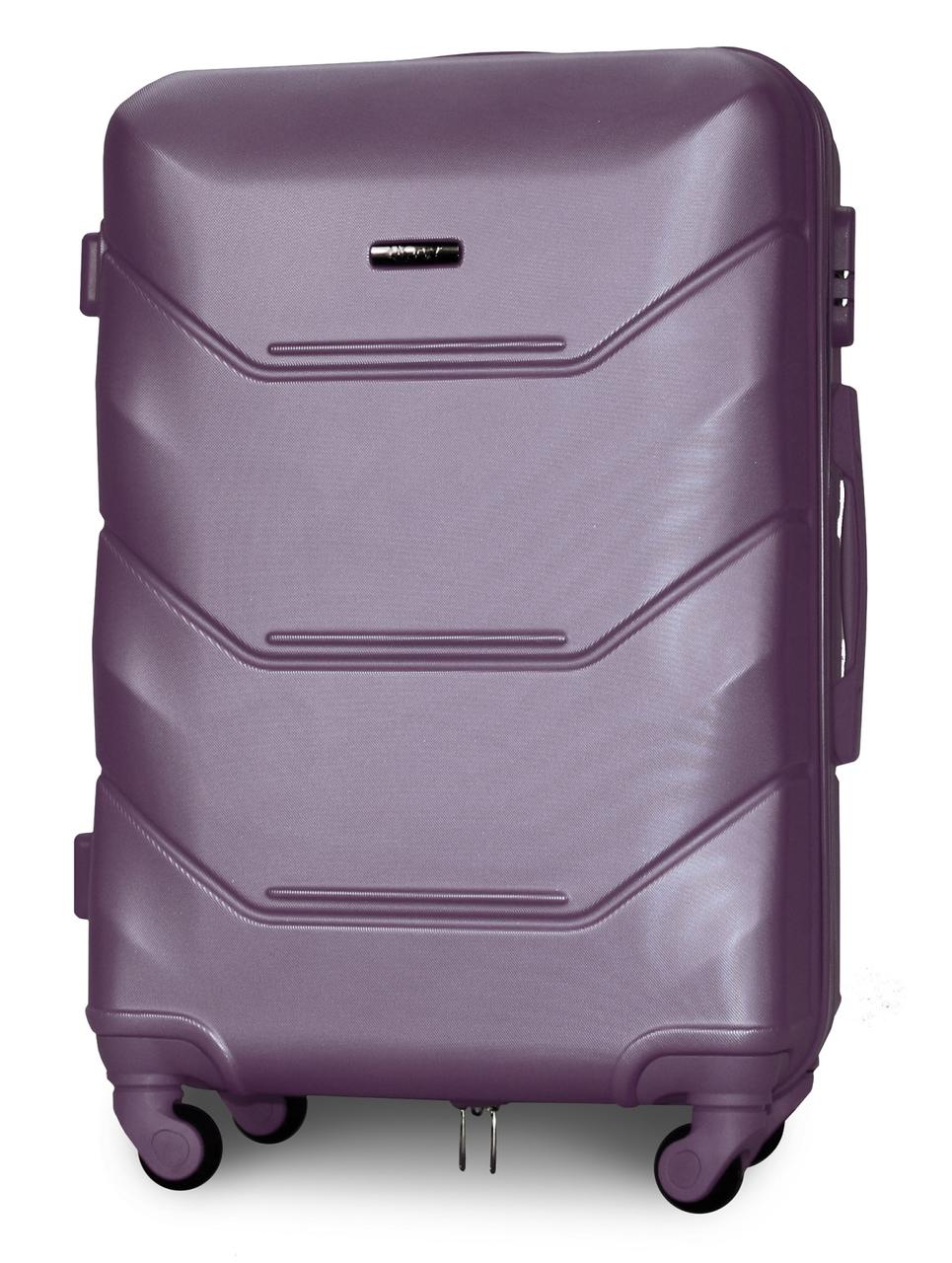 Чемодан Fly K147 средний 67х43х26 см 60л пластиковый на 4 колесах Cеребряно-фиолетовый