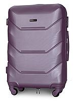 Чемодан Fly K147 средний 67х43х26 см 60л пластиковый на 4 колесах Cеребряно-фиолетовый, фото 1