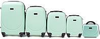 Набор чемоданов 5 штук в 1 Wings 310 на 4 колесах Мятный, фото 1