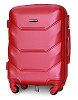 Чемодан Fly К147 малый 55х39х23 см Ручная кладь на 4 колесах Темно-розовый