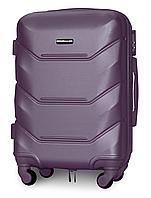 Чемодан Fly К147 малый 55х39х23 см Ручная кладь на 4 колесах Серебряно-фиолетовый