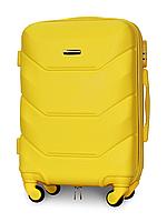 Чемодан Fly К147 малый 55х39х23 см Ручная кладь на 4 колесах Желтый