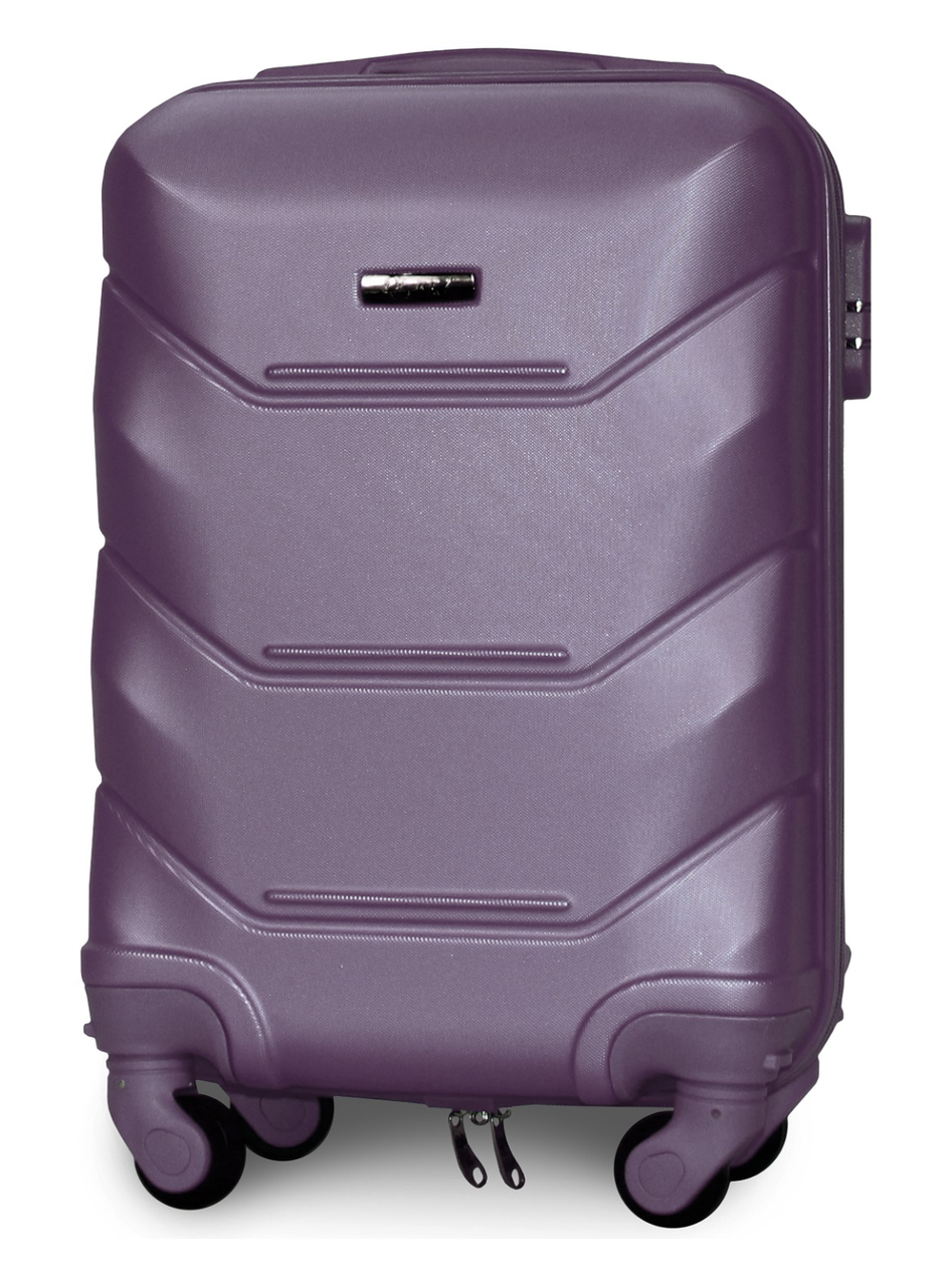 Чемодан Fly К147 мини 53х33х19 см Ручная кладь на 4 колесах Серебряно-фиолетовый