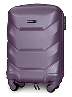 Чемодан Fly К147 мини 53х33х19 см Ручная кладь на 4 колесах Серебряно-фиолетовый, фото 1