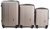 Набор чемоданов 3 штуки в 1 Wings 2011 на 4 колесах Шампань, фото 1