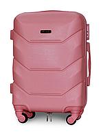 Чемодан Fly К147 малый 55х39х23 см Ручная кладь на 4 колесах Розовый