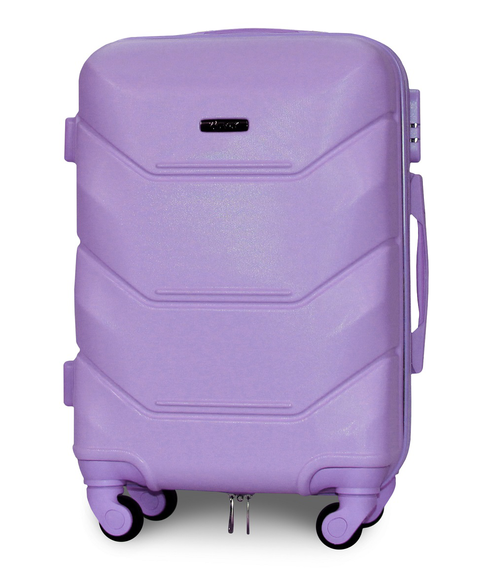 Чемодан Fly К147 малый 55х39х23 см Ручная кладь на 4 колесах Светло-фиолетовый