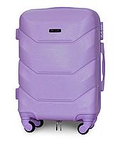Чемодан Fly К147 малый 55х39х23 см Ручная кладь на 4 колесах Светло-фиолетовый, фото 1
