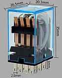 Реле 12В с клеммной колодкой на DIN-рейку / нагрузка 10А при 250В, фото 4