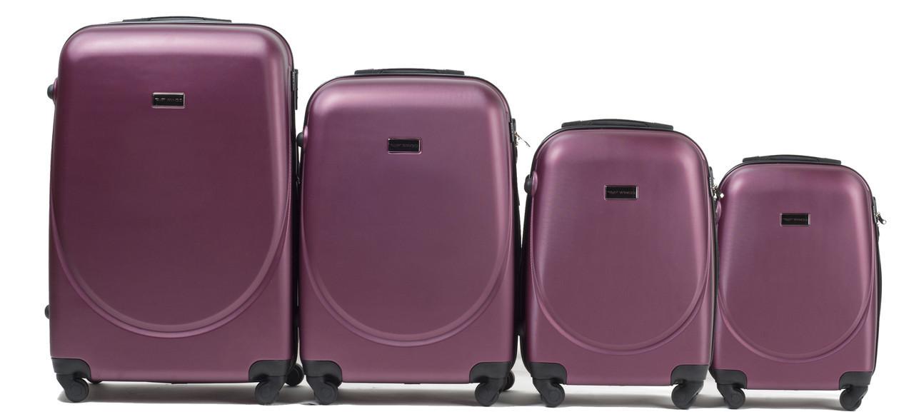 Набор чемоданов 4 штуки в 1 Wings 310 на 4 колесах Бордовый