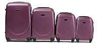 Набор чемоданов 4 штуки в 1 Wings 310 на 4 колесах Бордовый, фото 1
