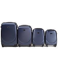 Набор чемоданов 4 штуки в 1 Wings 310 на 4 колесах Темно-синий, фото 1