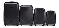 Набор чемоданов 4 штуки в 1 Wings 310 на 4 колесах Черный, фото 1