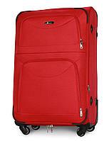 Чемодан Fly 6802 большой 74х48х30 см 90л тканевый на 4 колесах Красный