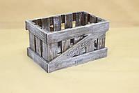 Ящик декоративный ДЯМ-2 (малый, прямоугольный) КОРИЧНЕВО-БЕЛЫЙ