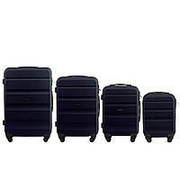 Набор чемоданов 4 штуки в 1 Wings AT01 на 4 колесах Темно-синий, фото 1