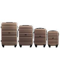 Набор чемоданов 4 штуки в 1 Wings AT01 на 4 колесах Шампань, фото 1