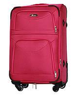 Чемодан Fly 6802 средний 64х43х27 см 60л тканевый на 4 колесах Розовый