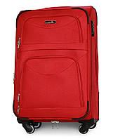Чемодан Fly 6802 средний 64х43х27 см 60л тканевый на 4 колесах Красный, фото 1