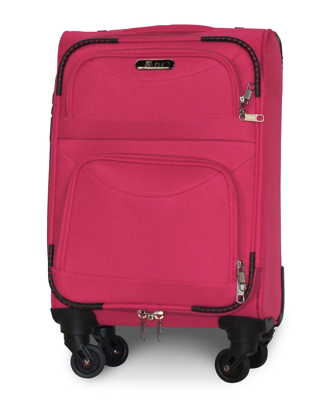 Чемодан Fly 6802 мини 46х32х20 см Ручная кладь на 4 колесах Розовый