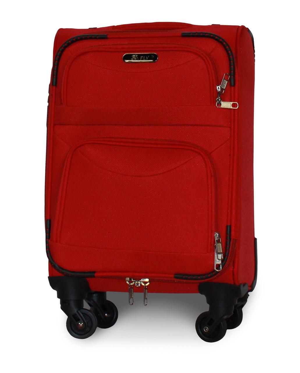 Чемодан Fly 6802 мини 46х32х20 см Ручная кладь на 4 колесах Красный