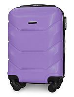 Чемодан Fly 147 мини 53х33х19 см Ручная кладь на 4 колесах Светло-фиолетовый